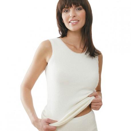 Sous-vêtement Angora sans manches Medima