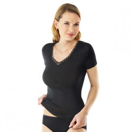 Sous-vêtement Soie manches courtes Medima