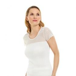 Sous-vêtement soie manches courtes