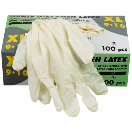 Gants d'examen en latex